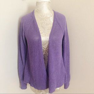 Eileen Fisher Linen Cardigan Sweater Size Small